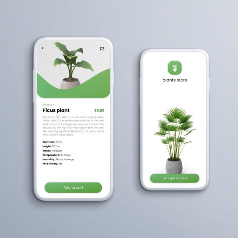 Plants store mobile app