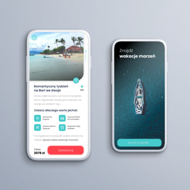 Vacation mobile app
